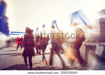 People Commuter Walking Rush Hour Traveling Concept #300920069