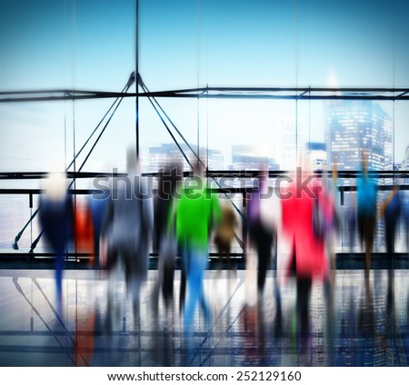 People Consumer Shopping Commuter Consumerism Crowded Concept #252129160