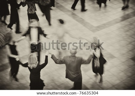 People dance