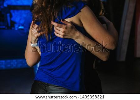 people dancing a kizomba dance on the dance floor #1405358321