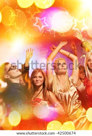 people dancing in a club. stock photo : People dancing in the night club