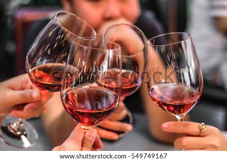 People Drink wine enjoy to night, Business People Party Celebration Success Concept