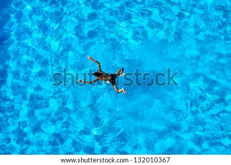 People exercising in a swimming pool
