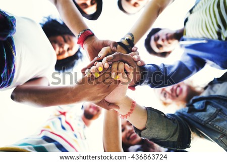 People Friendship Brainstorming Hand Teamwork Concept