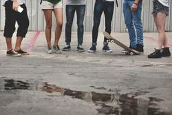 People Friendship Skateboard Extreme Sport Team Concept
