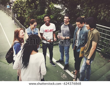People Friendship Togetherness Hangout Youth Culture Concept #624376868