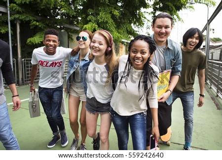 People Friendship Togetherness Huddle Team Unity Concept #559242640