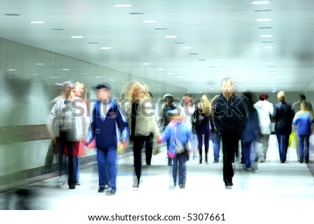 people going on a corridor