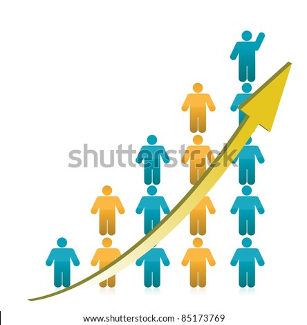 people Graph Showing Growth illustration