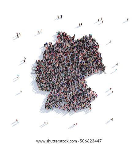 people group shape map germany