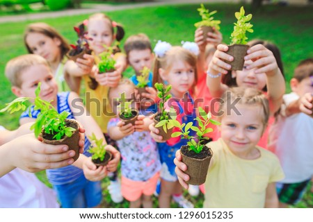People Hands Cupping Plant Nurture Environmental #1296015235