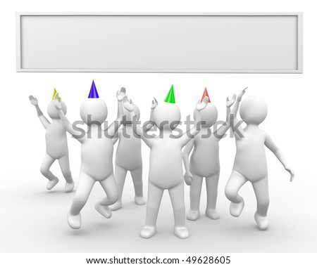 People having a party, celebrating