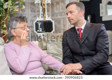 people having conversation in the funeral home