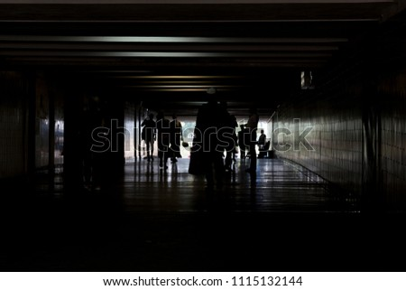 Free Photos Silhouette In A Subway Tunnel Light At End Of Tunnel