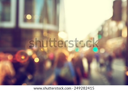people in bokeh  street of...