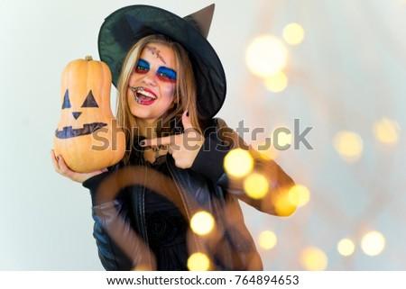 People in halloween costumes #764894653