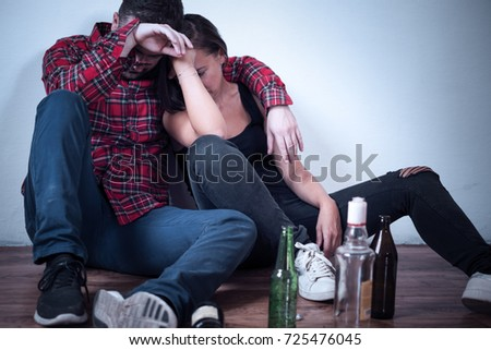 People in hangover after drinking too much Сток-фото ©