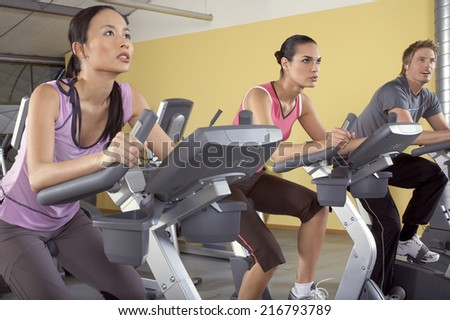 People in the gym.