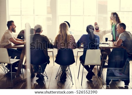People Meeting Seminar Office Concept #526552390