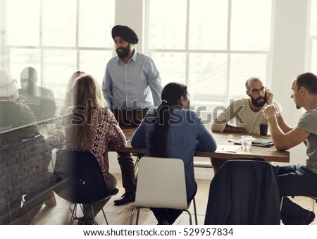 People Meeting Seminar Office Concept #529957834