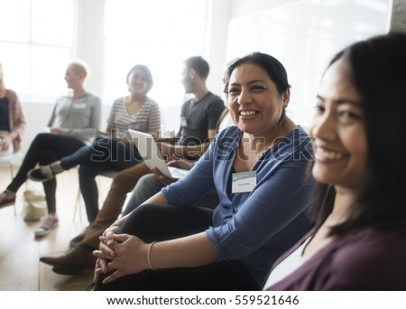 People Meeting Seminar Office Concept