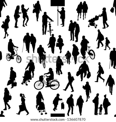 People of a town   Silhouette