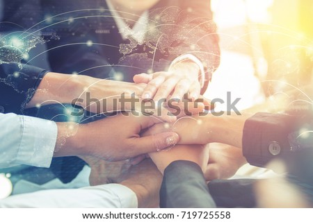 People of different nationalities, communication, teamwork. Technology of global business , world connection unity communication. Internet concept. Elements of this image furnished by NASA.