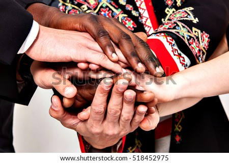People of different nationalities.The concept of friendship, communication, teamwork. immigration