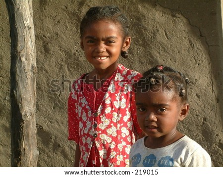 People of small village in Madagascar. April 2005.