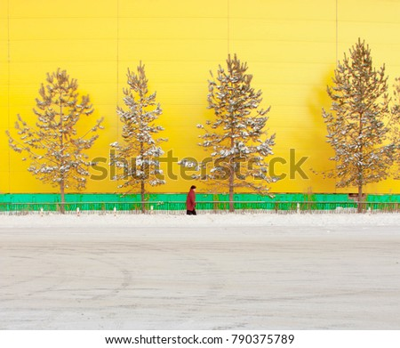 People on a yellow background inscribed in a rhythm. #790375789