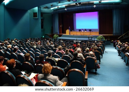 People on conference - stock photo