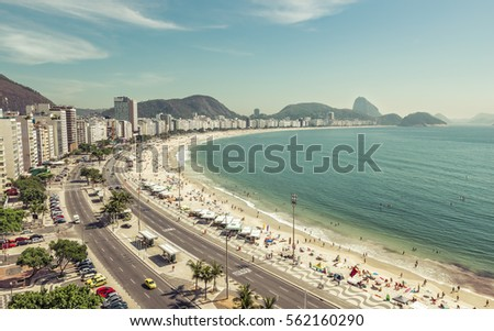people on copacabana beach in...