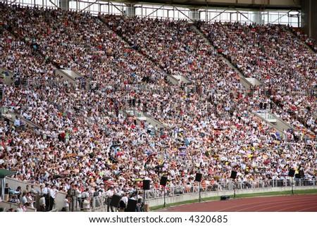 people on the stadium