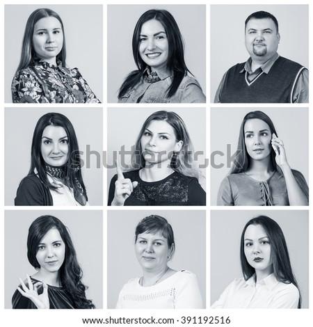 People portrait collage #391192516