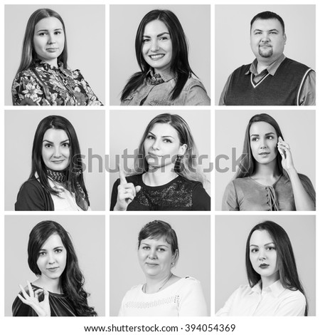 People portrait collage #394054369