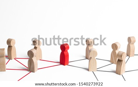 People's communication network is connected through one person. Mediator and pick. Obstruction of whole system and bureaucratic obstacles. Weak link, failure to complete the task. Responsible leader