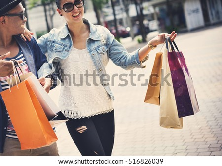 People Shopping Spending Customer Consumerism Concept Photo stock ©