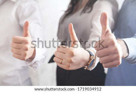 People showing thumb up gesture. Success ストックフォト ©