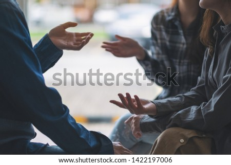 People sitting and talking together