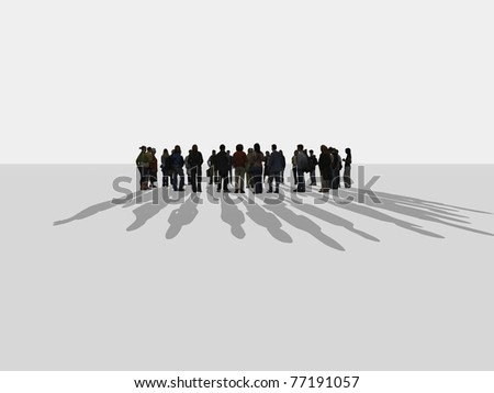 people standing in a circle