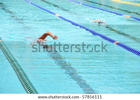 Pictures Of People Swimming. stock photo : people swimming