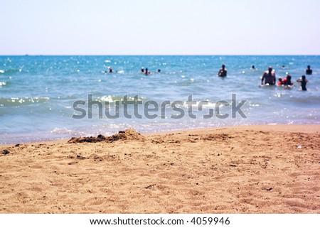 Ocean Beach People People Swimming Ocean Beach