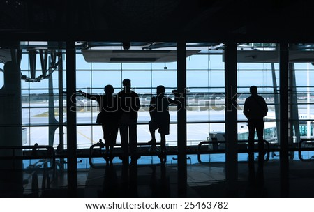 people waiting in the airport