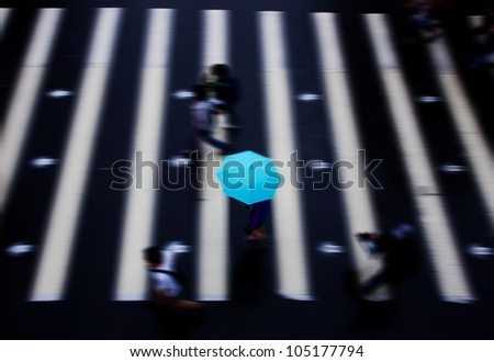 people walk through the road