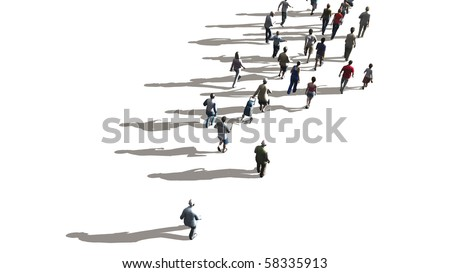 people walking - stock photo