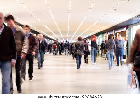 People walking - motion blur