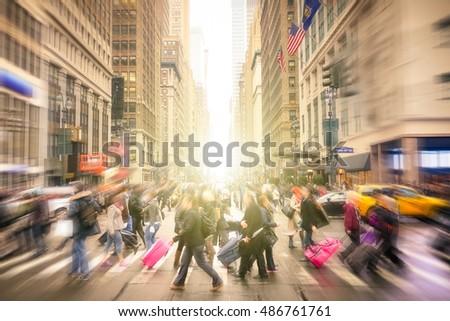 people walking on 7 th av. and...
