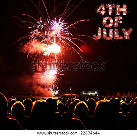 People watch fireworks display for 4th of july