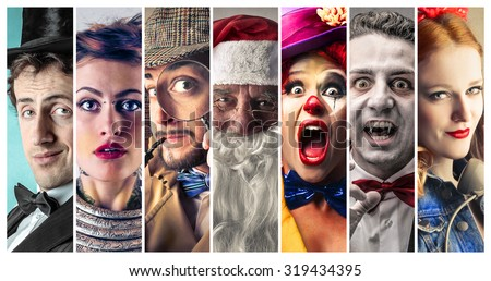 People wearing different costumes Stock photo ©