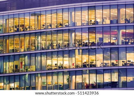 People working at office building in London #511423936